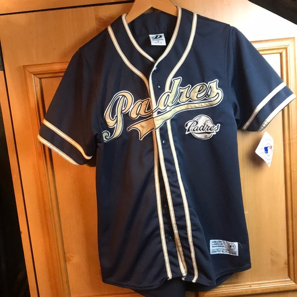 9143cd3a3 ... official nwt mens small san diego padres baseball jersey 5d0fa e7f59